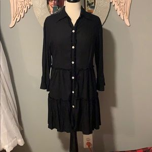 Soft Surroundings Shirt Dress Ruffles